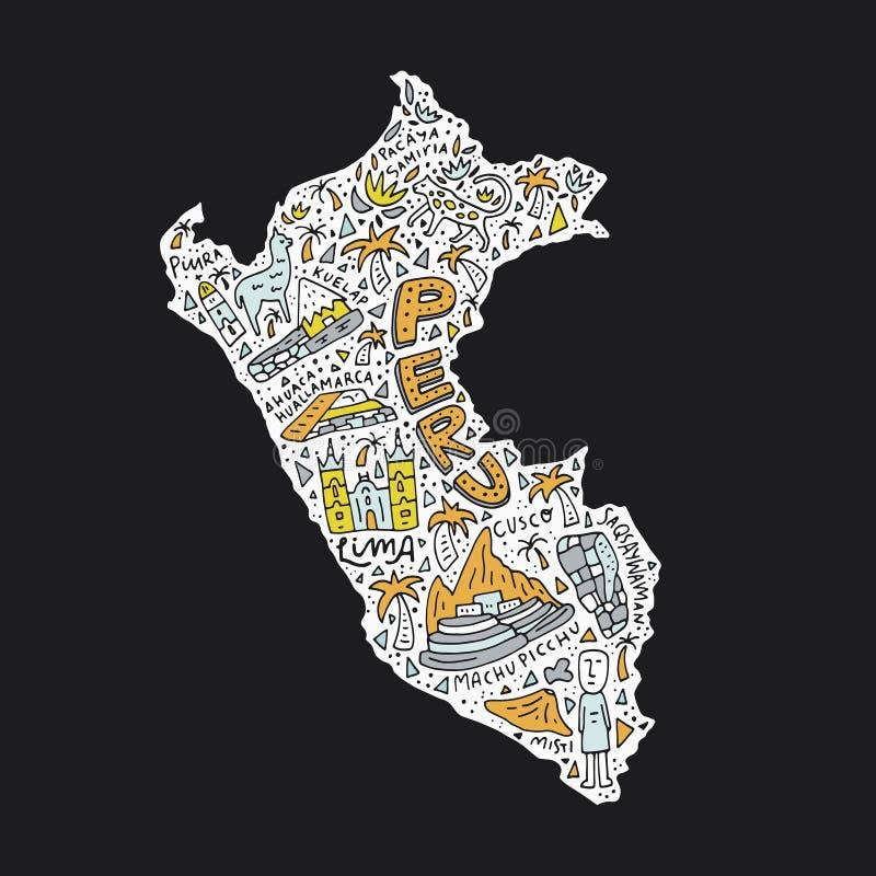 карта Перу бесплатная иллюстрация