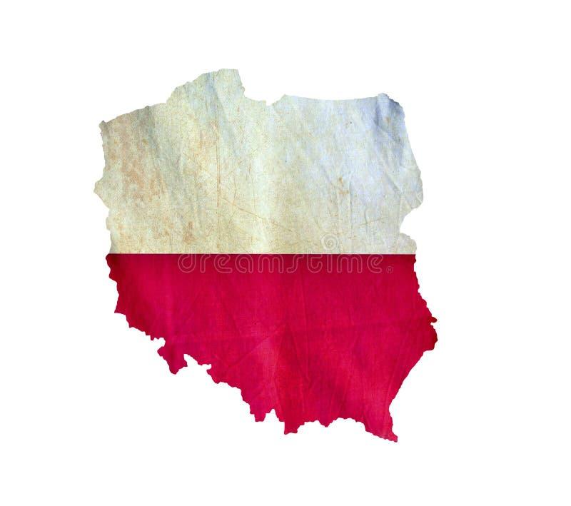 Карта Польши изолировала стоковые фотографии rf