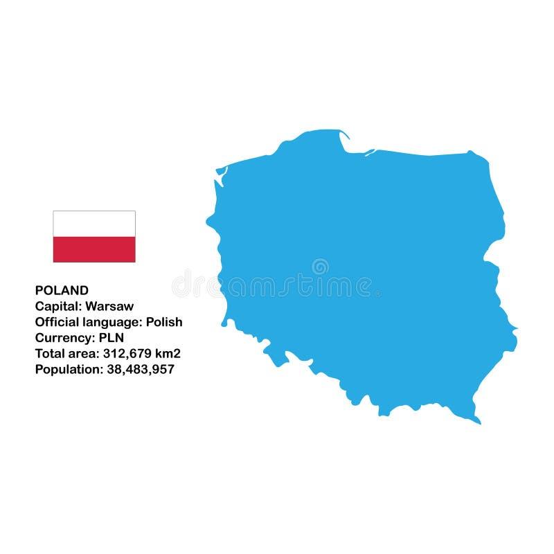 карта Польша бесплатная иллюстрация