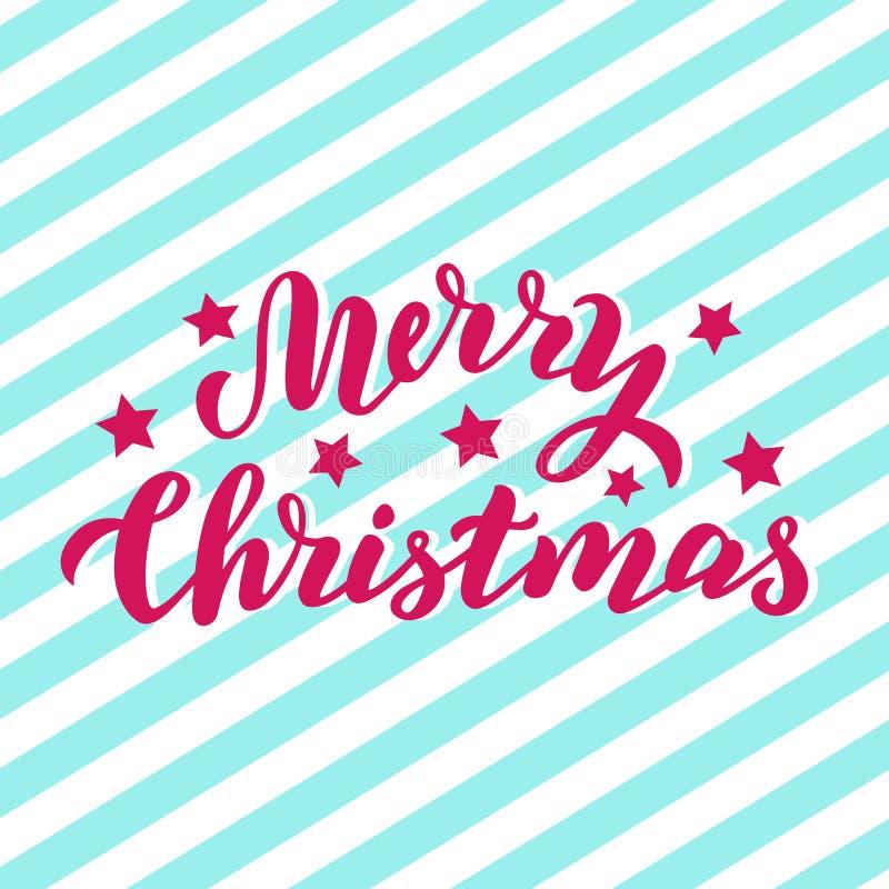 Карта праздника веселого рождества с государственным флагом США Современный помечая буквами текст Цитата приветствию Xmas иллюстрация вектора