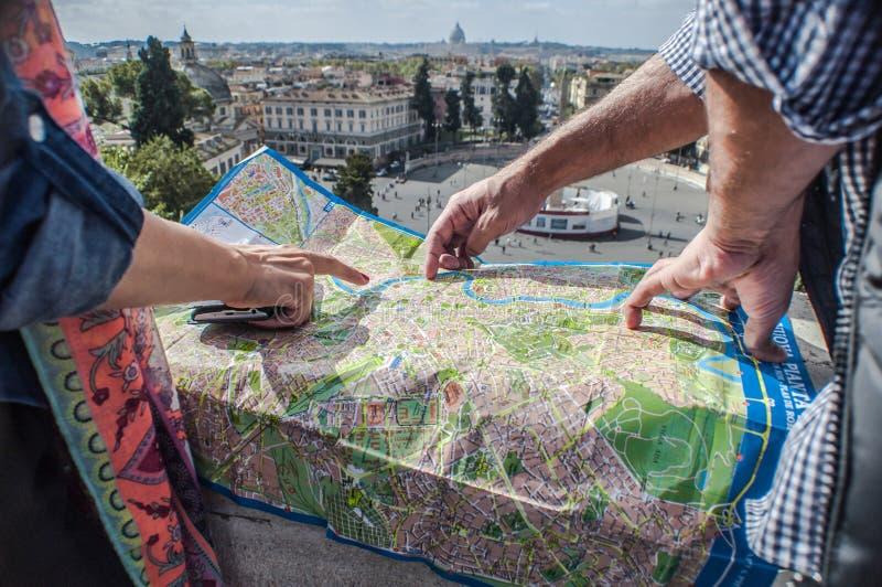 Карта Рима стоковая фотография
