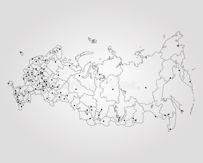 карта Россия иллюстрация вектора