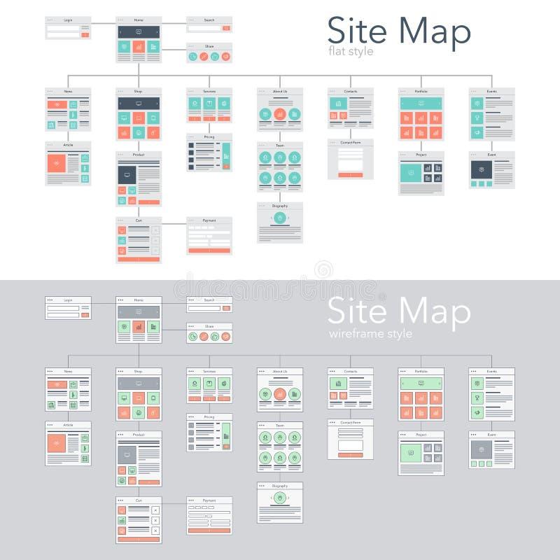 Карта сайта бесплатная иллюстрация