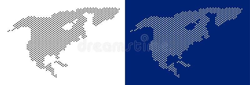 Карта Северной Америки точки иллюстрация штока