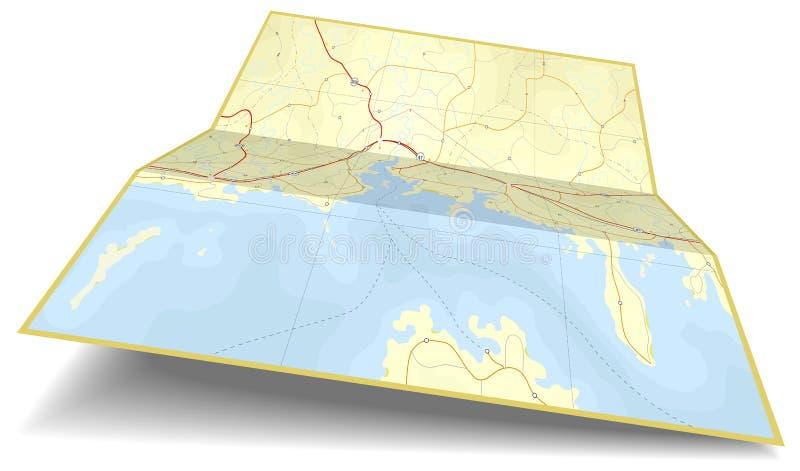 карта складчатости иллюстрация штока