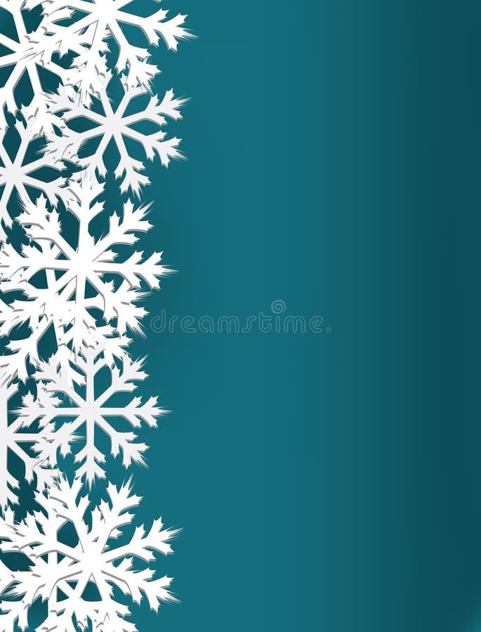 Карта снежинки на голубой предпосылке бесплатная иллюстрация