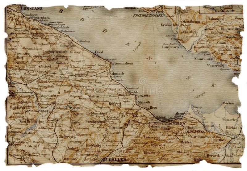 карта старая стоковая фотография