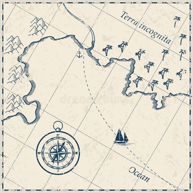 карта старая бесплатная иллюстрация