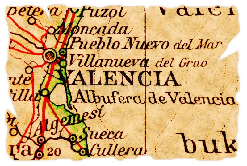 карта старый valencia стоковые изображения rf