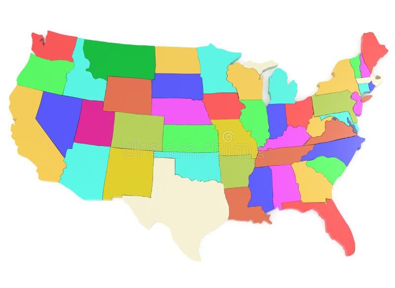 карта США иллюстрация вектора