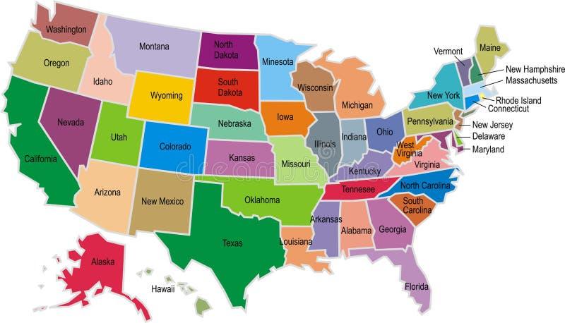 Карта США иллюстрация штока