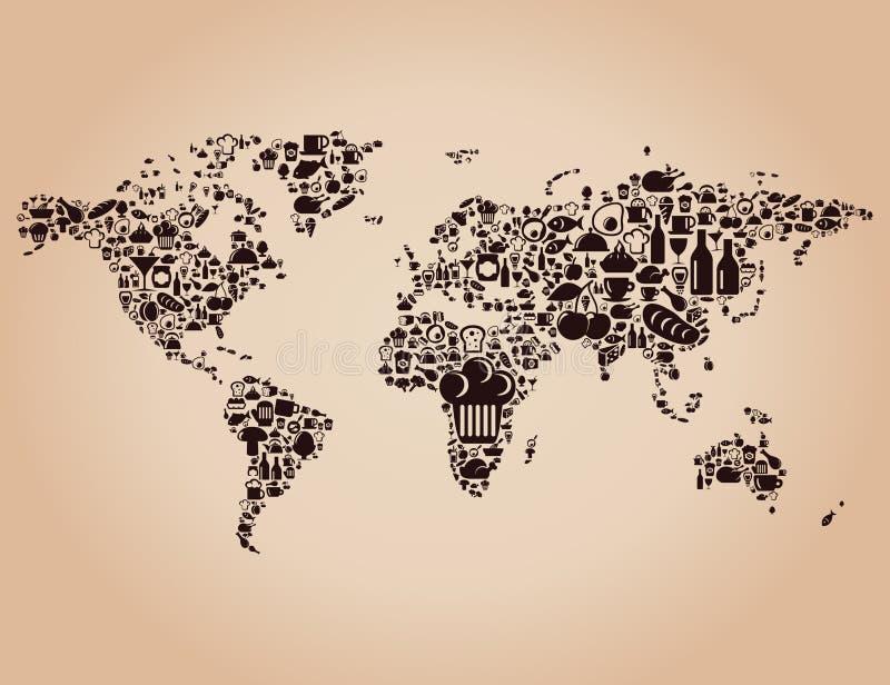 Карта еды иллюстрация штока