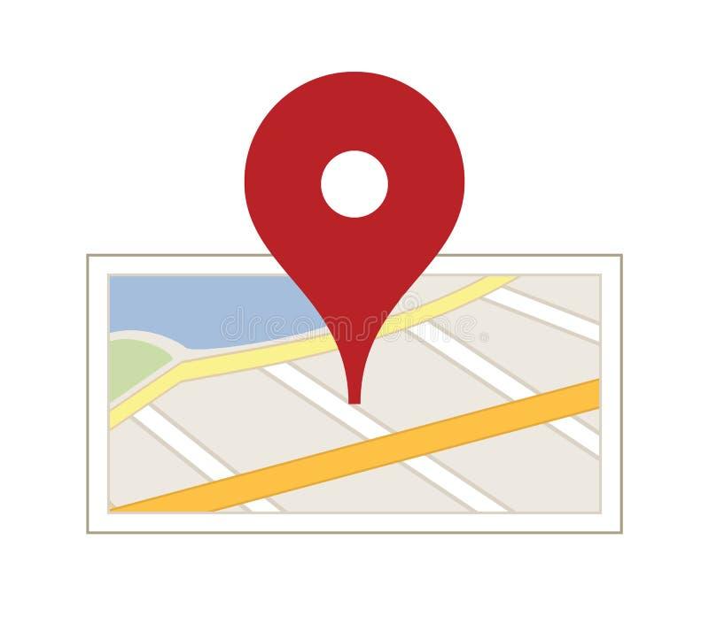 Карта с штырем бесплатная иллюстрация