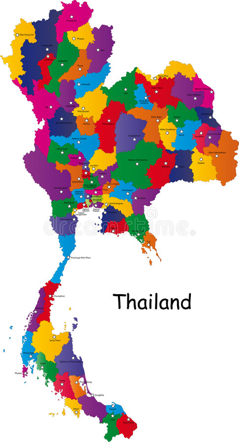 Карта Таиланда иллюстрация вектора