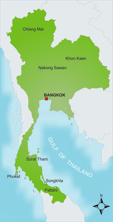 карта Таиланд иллюстрация вектора