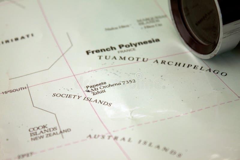 карта Таити стоковая фотография rf