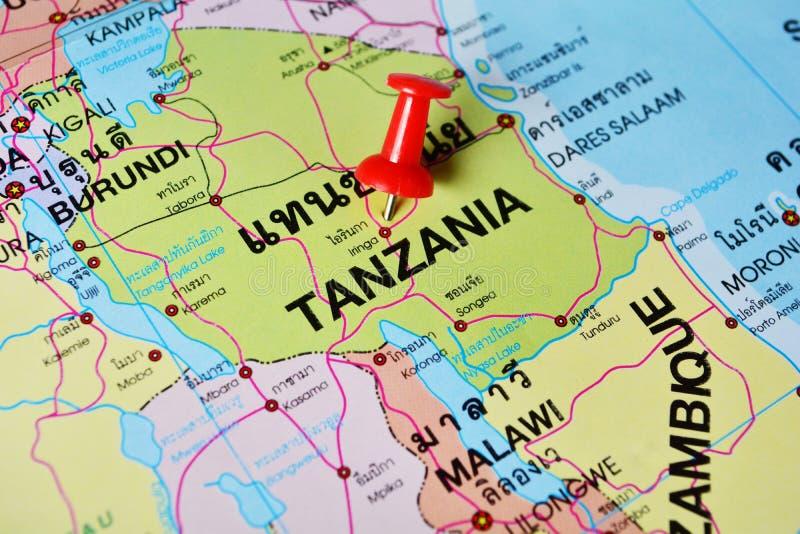 Карта Танзании стоковое изображение