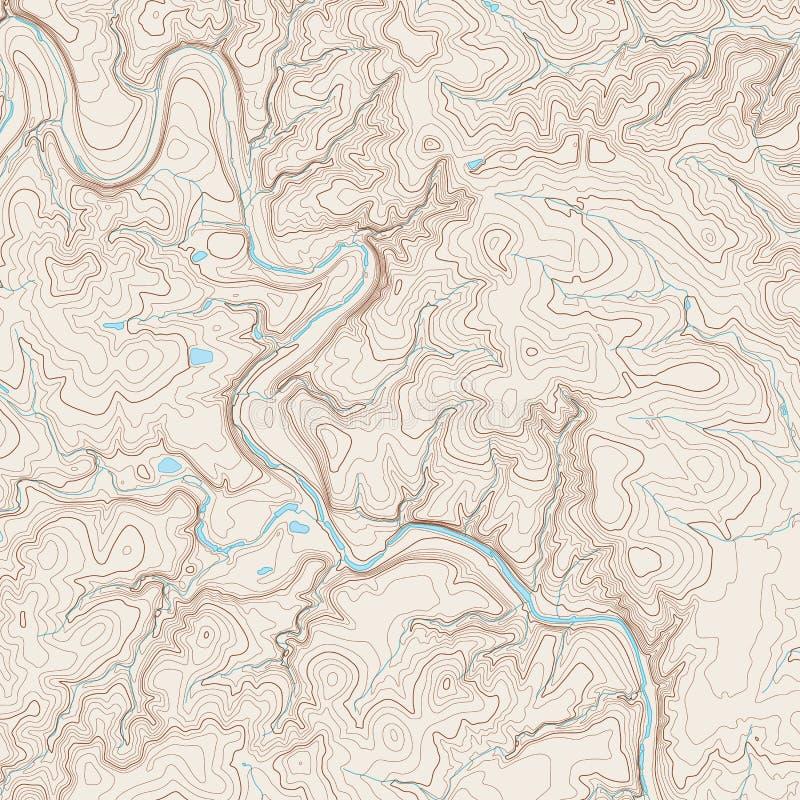 карта топографическая иллюстрация вектора