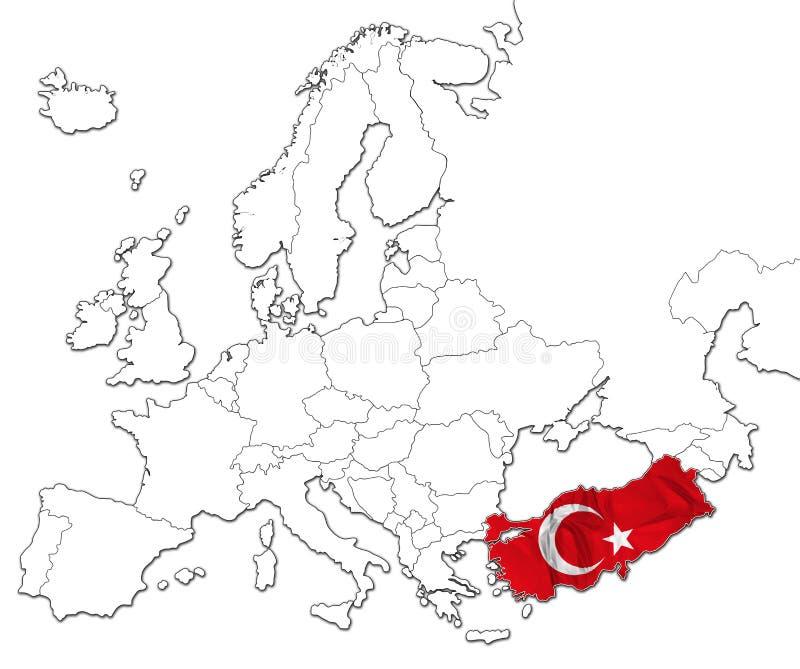 Карта Турции иллюстрация вектора