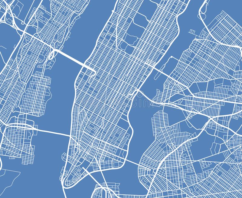 Карта улицы вектора США Нью-Йорка вида с воздуха иллюстрация вектора