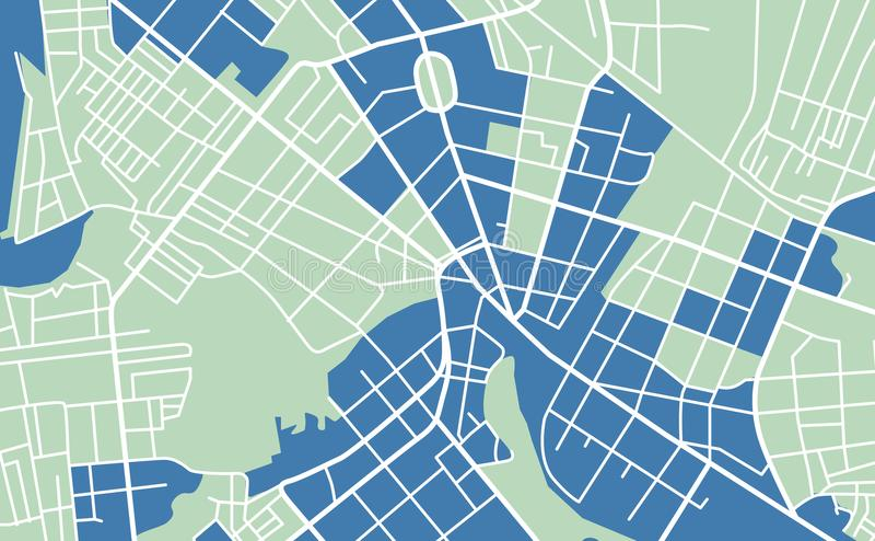 Карта улицы городка иллюстрация штока