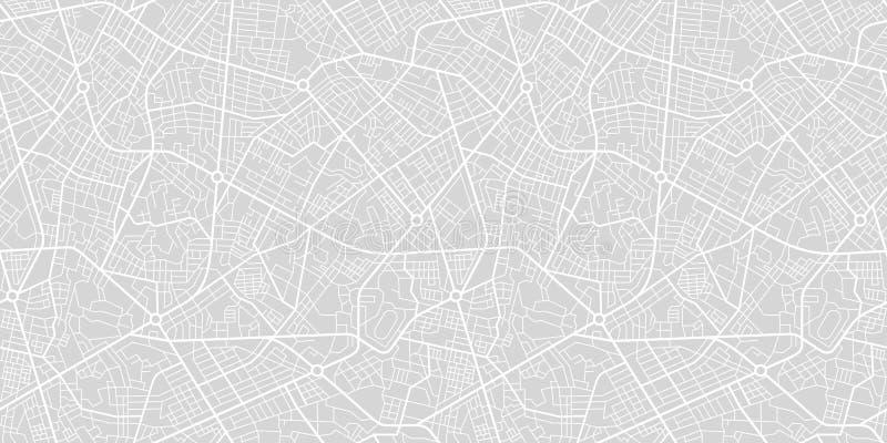 Карта улицы городка иллюстрация вектора