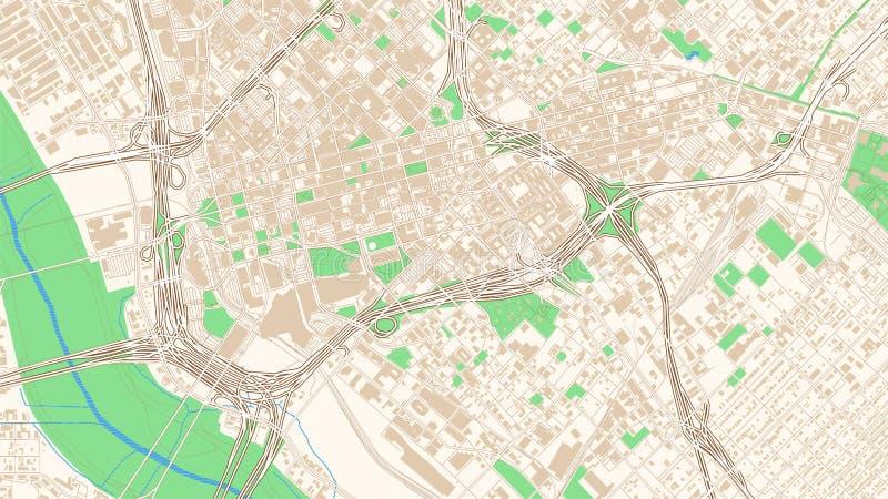 Карта улицы Даллас, Техаса иллюстрация штока