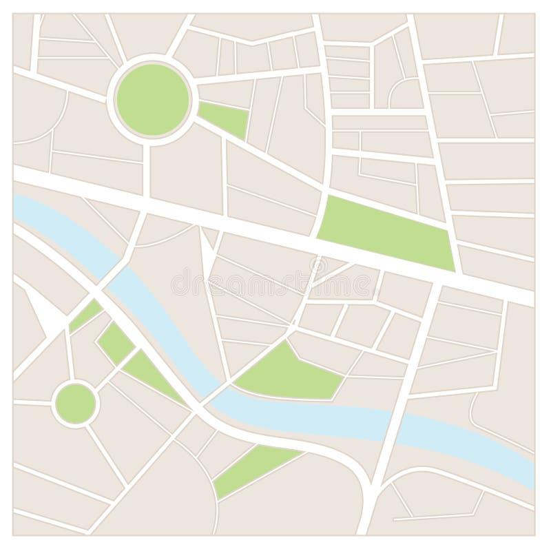 Карта улицы бесплатная иллюстрация