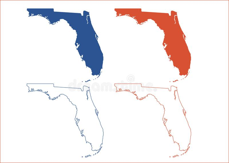 Карта Флориды иллюстрация штока