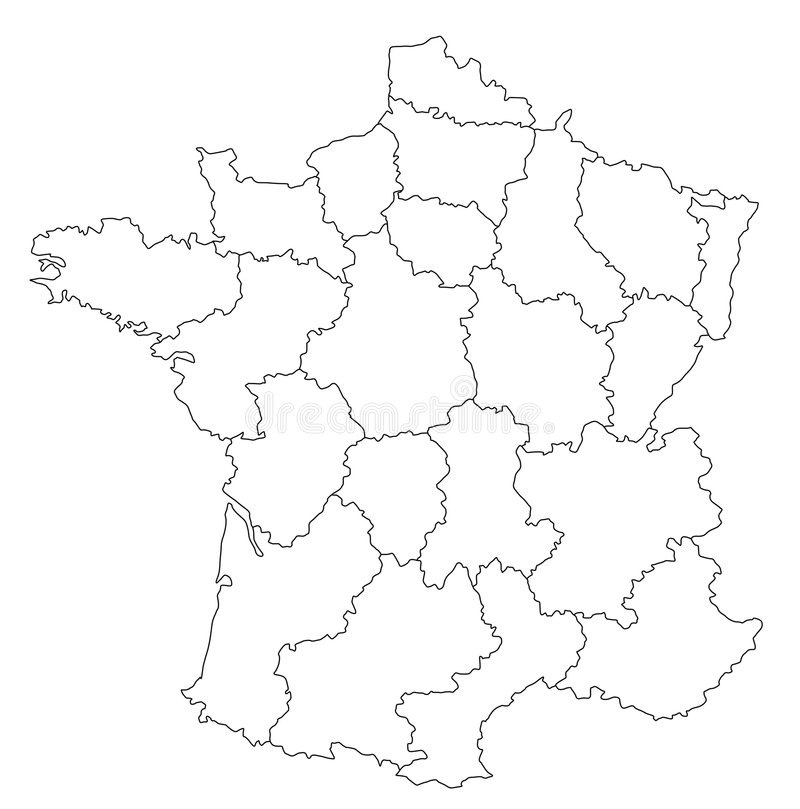 карта Франции иллюстрация штока