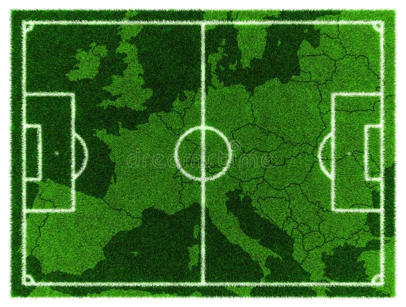 Карта футбола Центральная Европа иллюстрация вектора