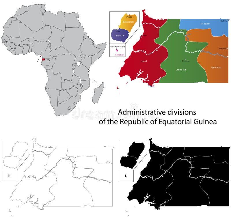 карта Экваториальной Гвинеи иллюстрация вектора