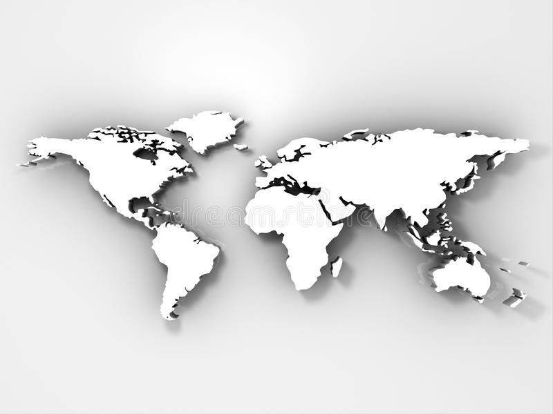 карта 3d представляет мир иллюстрация вектора
