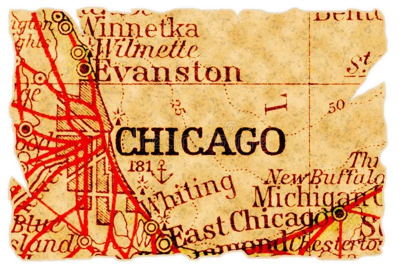 карта chicago старая стоковая фотография rf