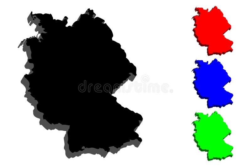 карта 3d Германии иллюстрация штока
