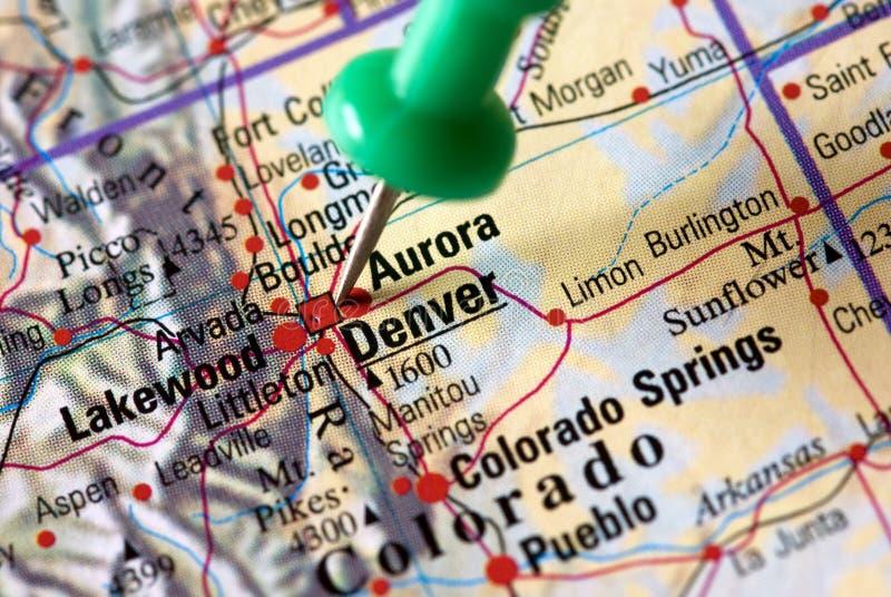 карта denver стоковая фотография