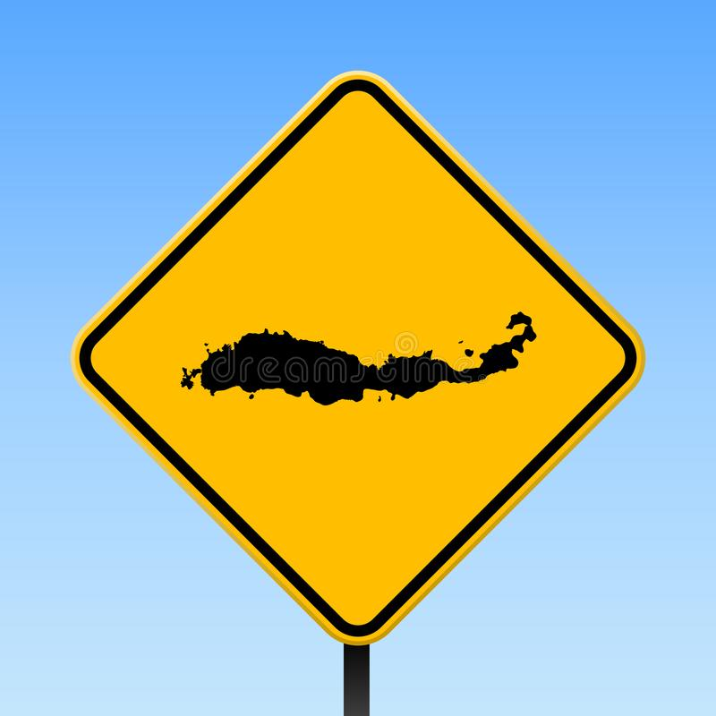 Карта Flores на дорожном знаке бесплатная иллюстрация
