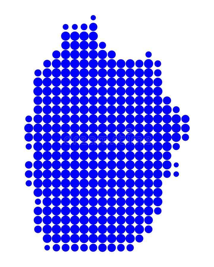 Карта Flores иллюстрация вектора