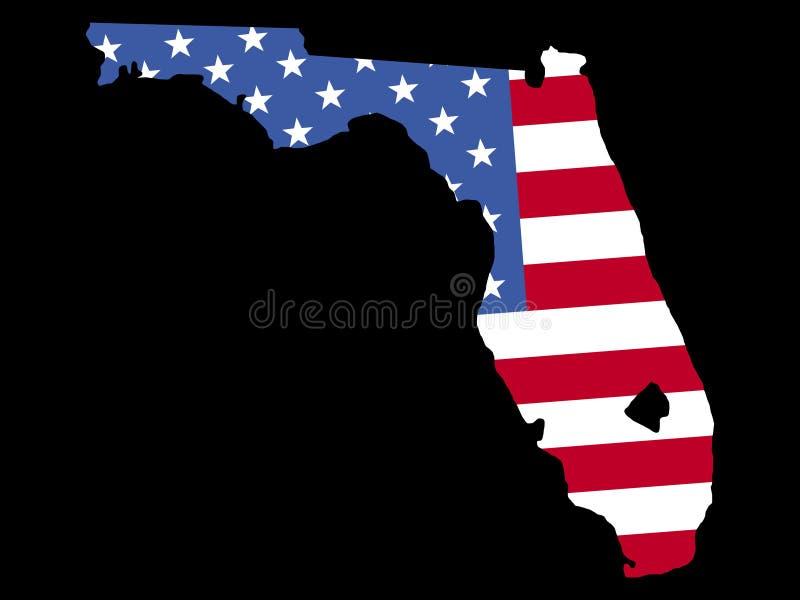 карта florida флага бесплатная иллюстрация