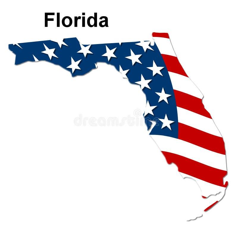 карта florida бесплатная иллюстрация