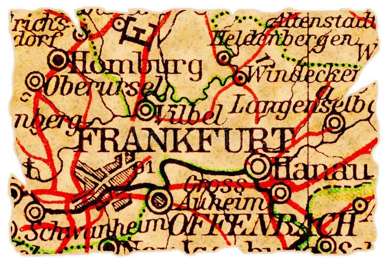 карта frankfurt старая стоковое фото rf