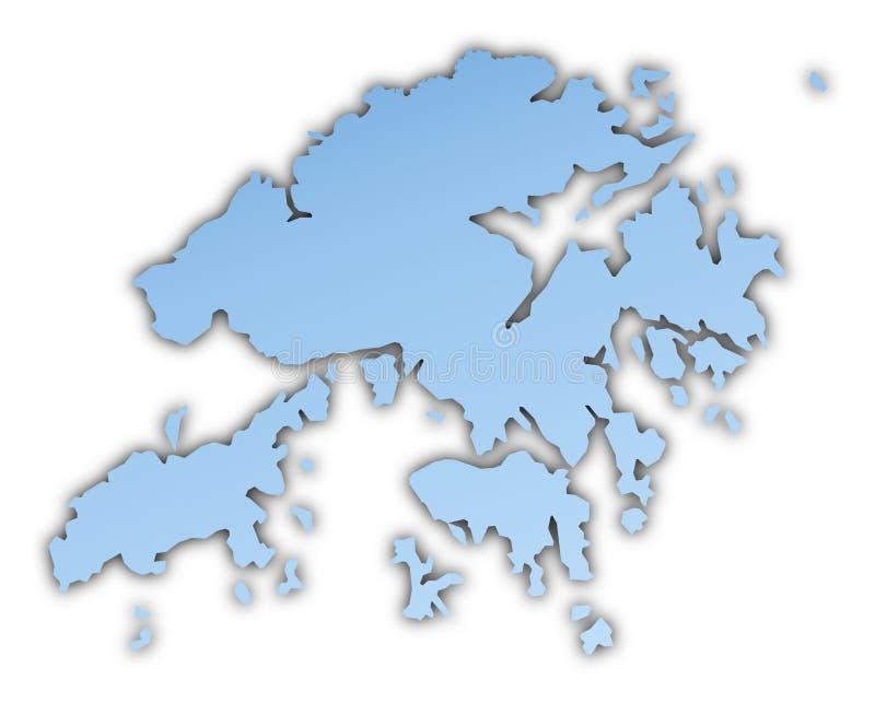 карта Hong Kong бесплатная иллюстрация