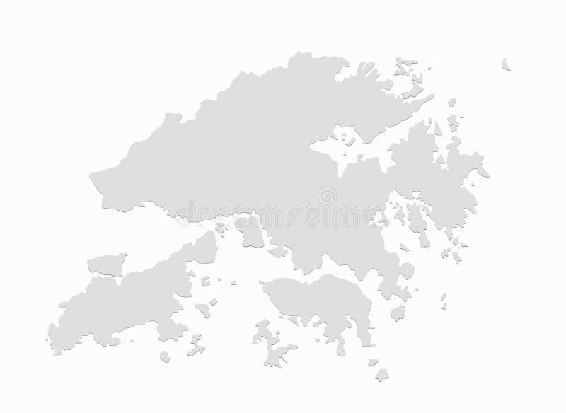 карта Hong Kong иллюстрация вектора