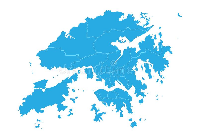 карта Hong Kong E иллюстрация вектора