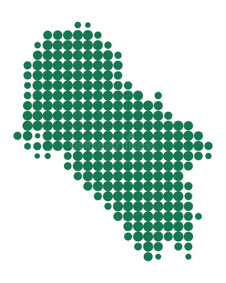 Карта Ios иллюстрация штока