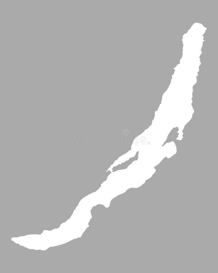 Карта Lake Baikal иллюстрация штока
