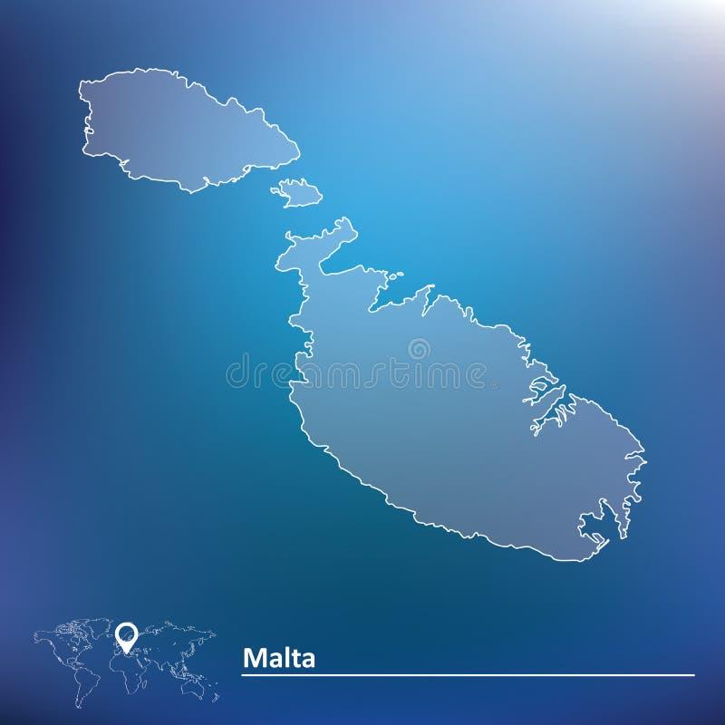 карта malta иллюстрация вектора