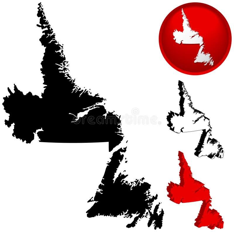 карта newfoundland Канады иллюстрация штока