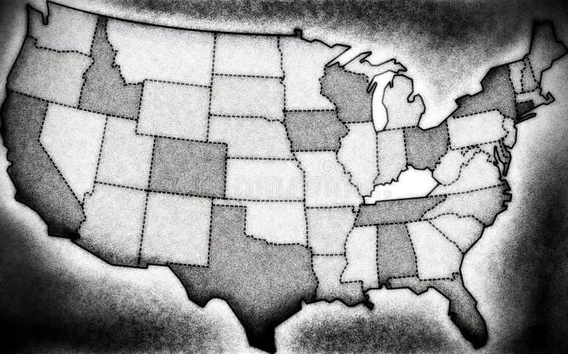 Карта Noir США стоковые изображения rf