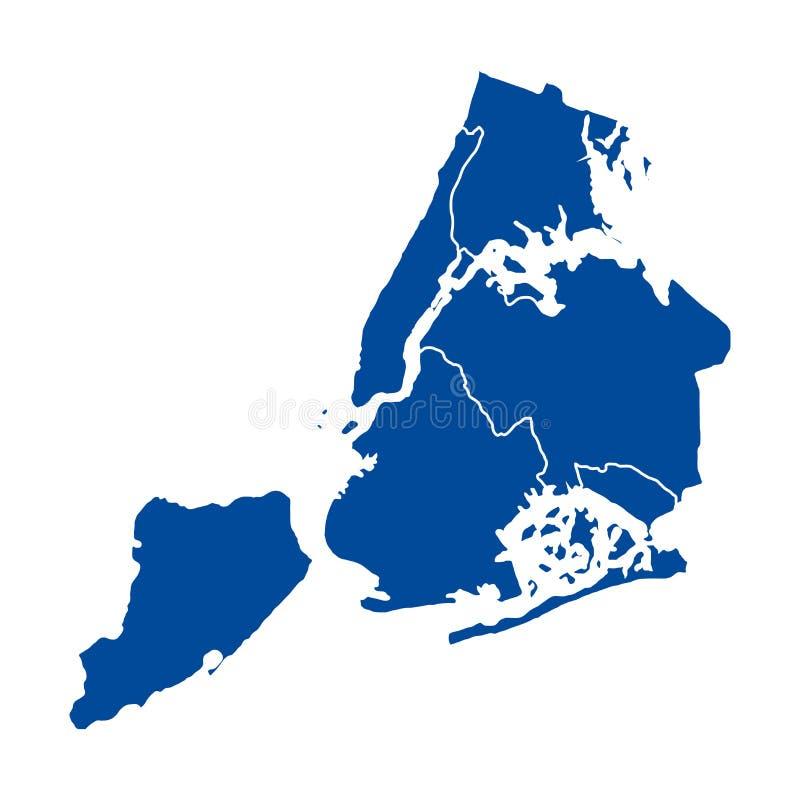 Карта Ny-Йорка иллюстрация штока